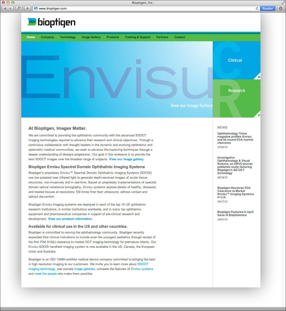 Bioptigen Website