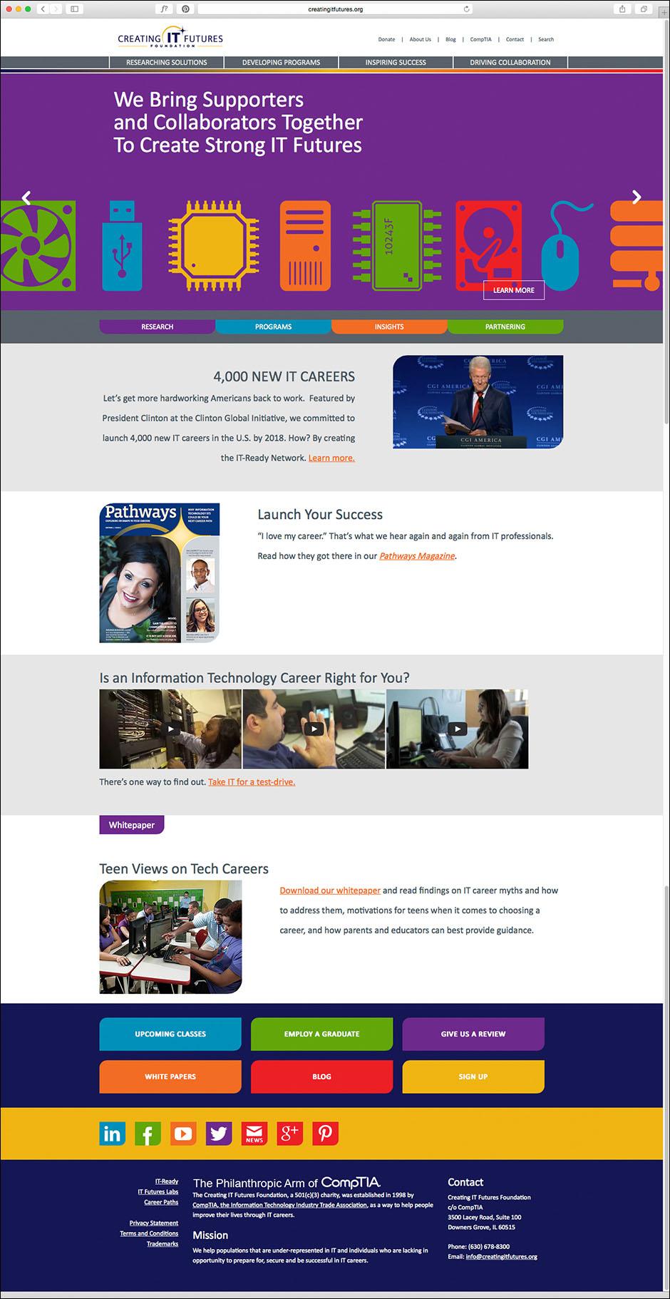Creating IT Futures Website