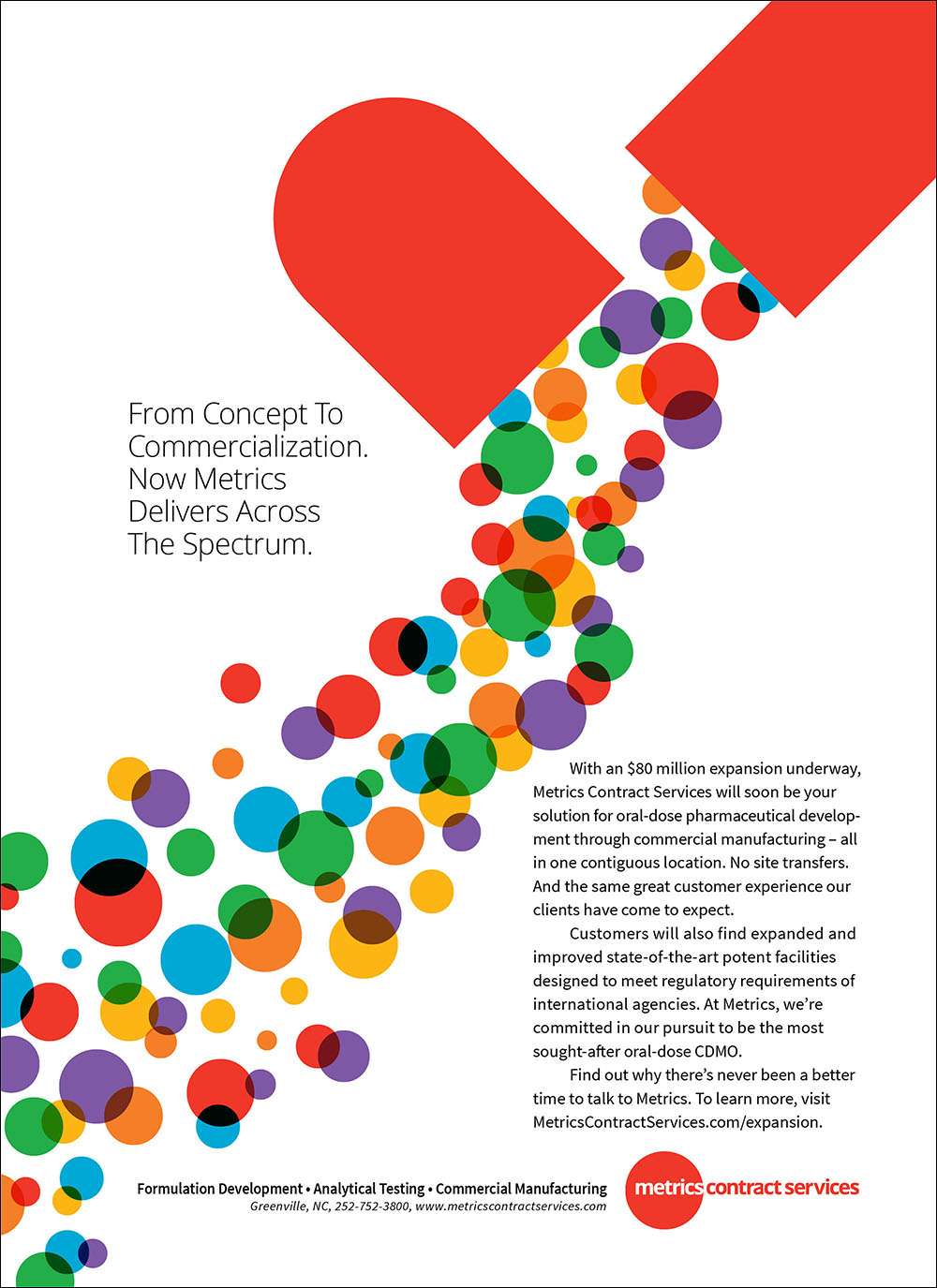 Metrics Contract Services Print Ad