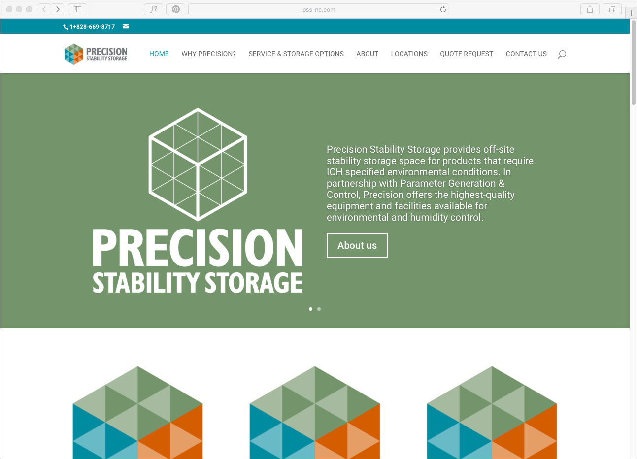 Precision Stability Storage Website