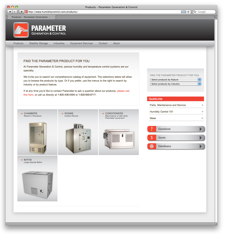 Parameter Website