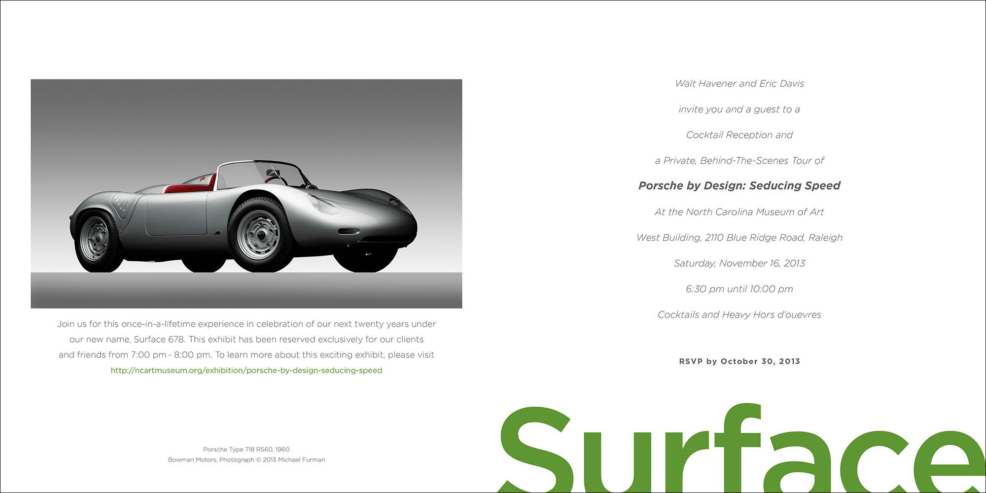 Surface 678 Event Invitation