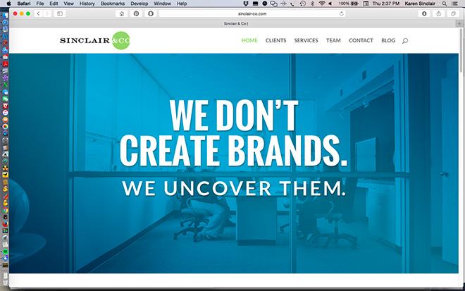 Sinclair & Co Website ScreenShot